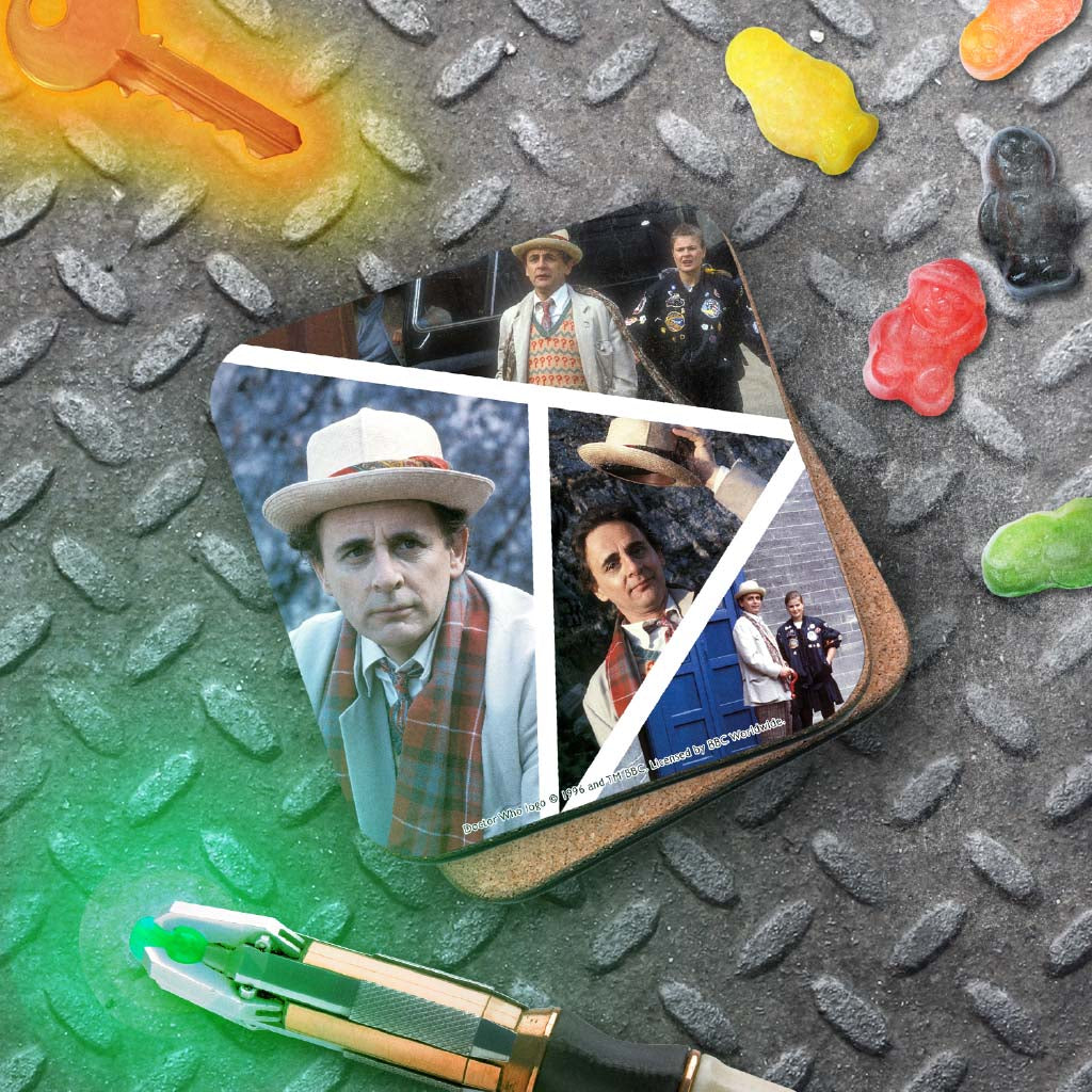 Seventh Doctor Photographic Coaster (Lifestyle)