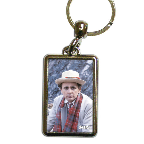 Seventh Doctor Photographic Metal Keyring