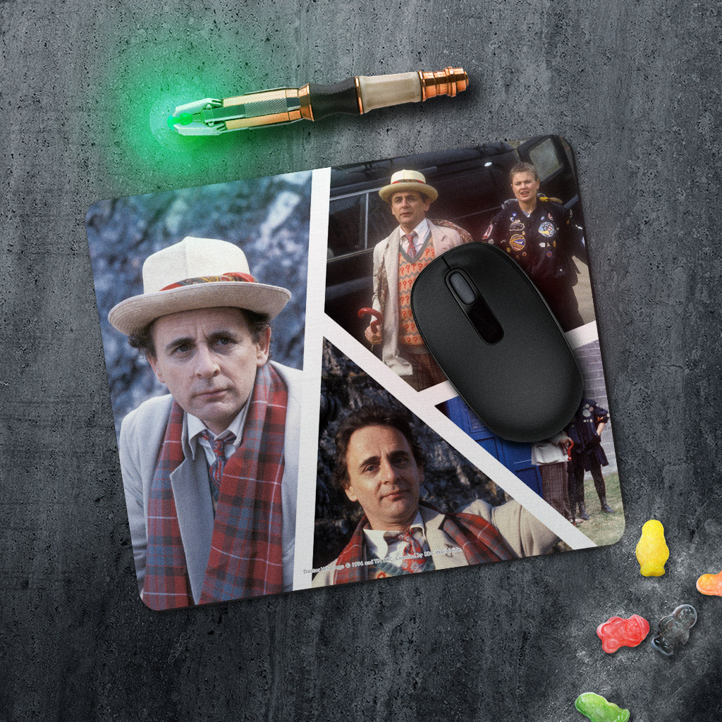 Seventh Doctor Photographic Mousemat (Lifestyle)
