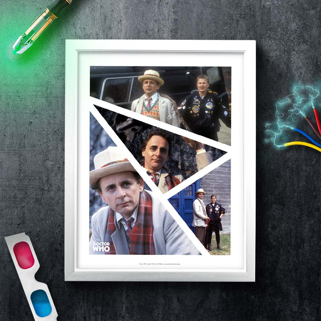 Seventh Doctor Photographic White Framed Art Print (Lifestyle)