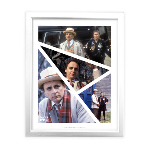 Seventh Doctor Photographic White Framed Art Print