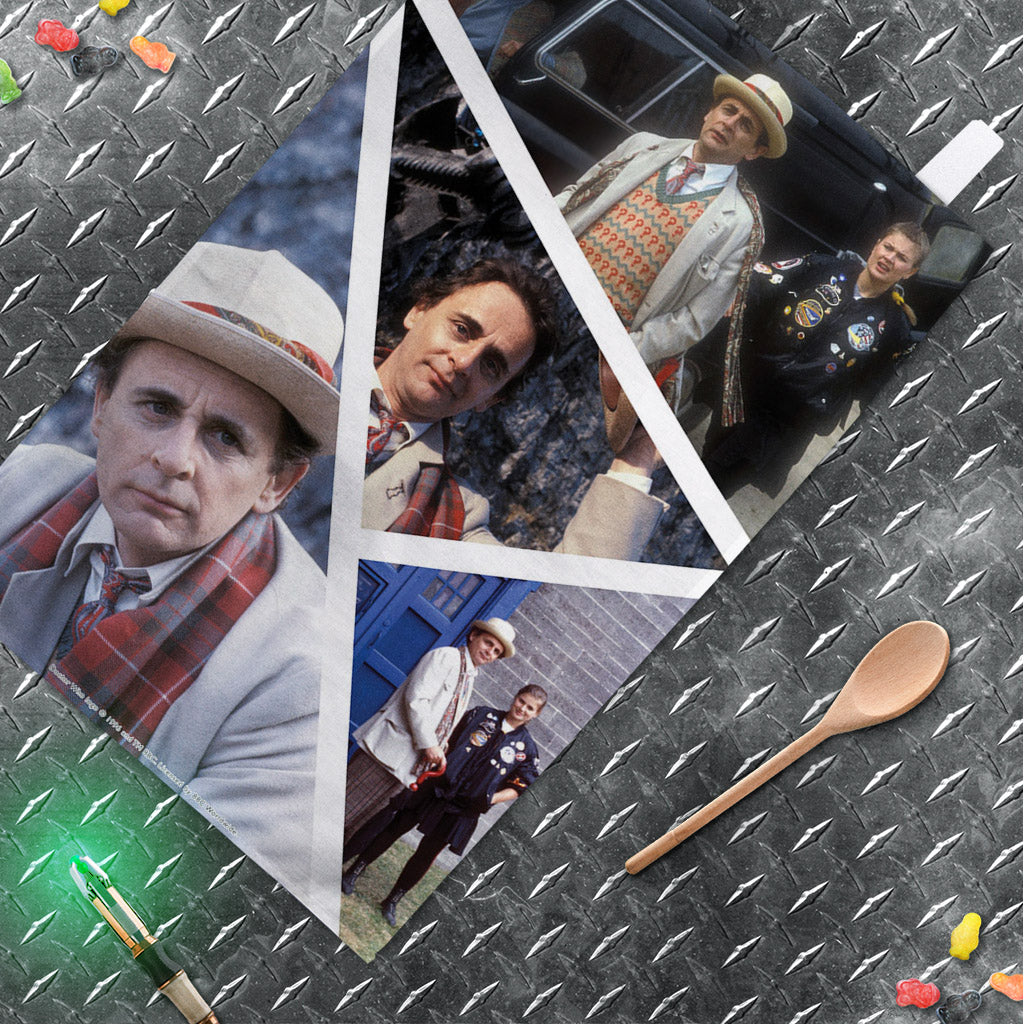 Seventh Doctor Photographic Tea Towel (Lifestyle)
