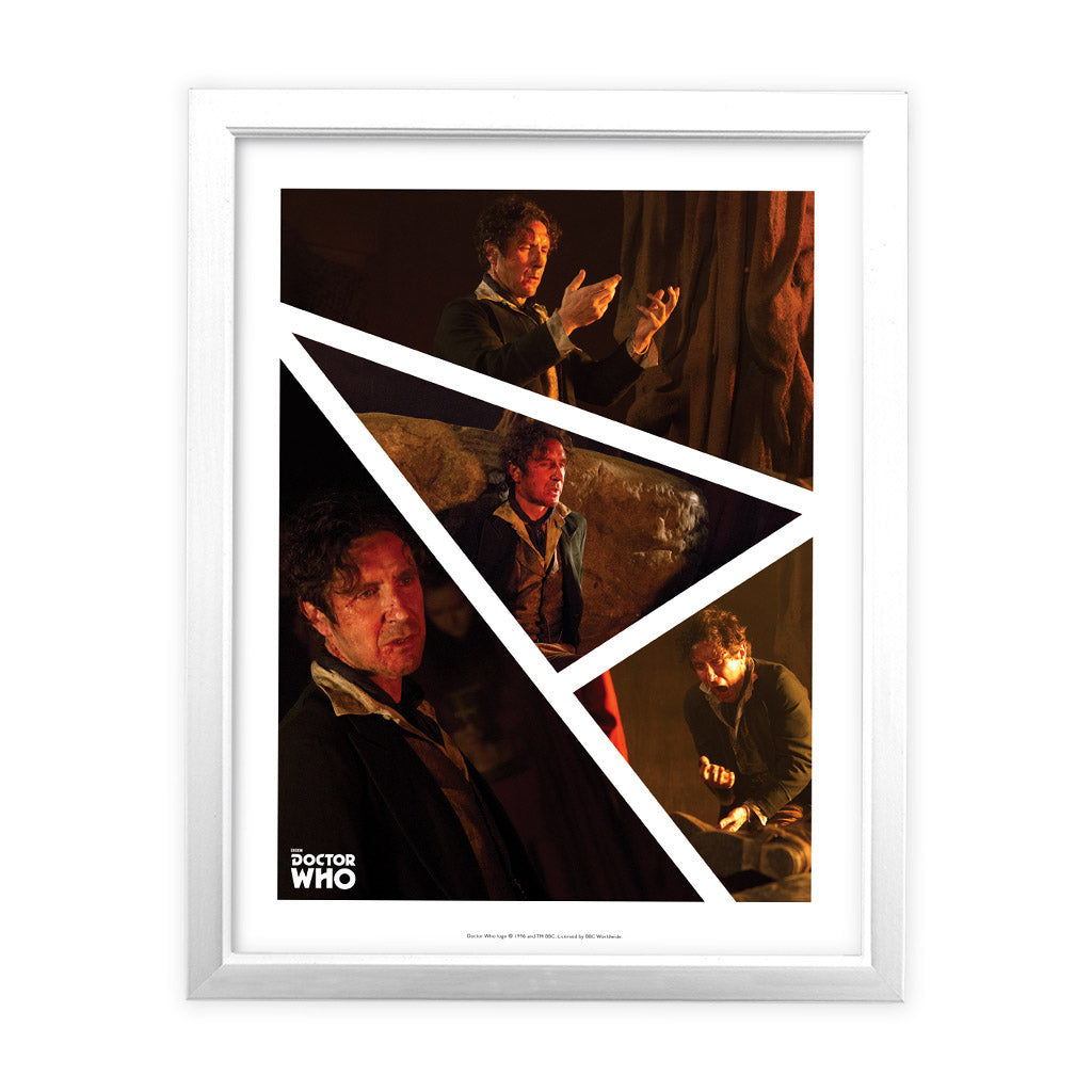 Eighth Doctor Photographic White Framed Art Print