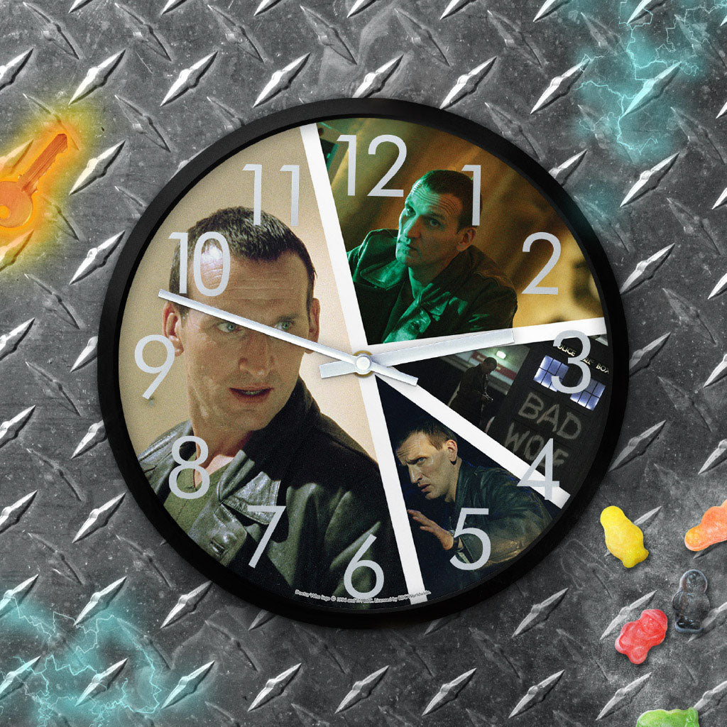 Ninth Doctor Photographic Clock