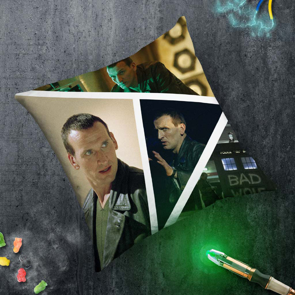 Ninth Doctor Photographic Cushion (Lifestyle)