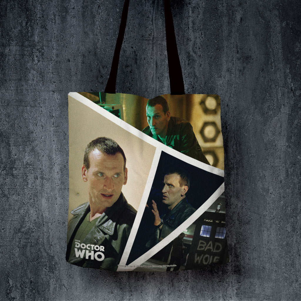 Ninth Doctor Photographic Edge to Edge Tote (Lifestyle)