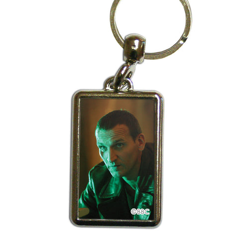 Ninth Doctor Photographic Metal Keyring