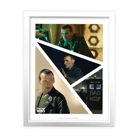 Ninth Doctor Photographic White Framed Art Print