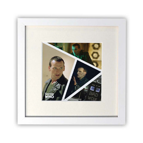 Ninth Doctor Photographic Square White Framed Print