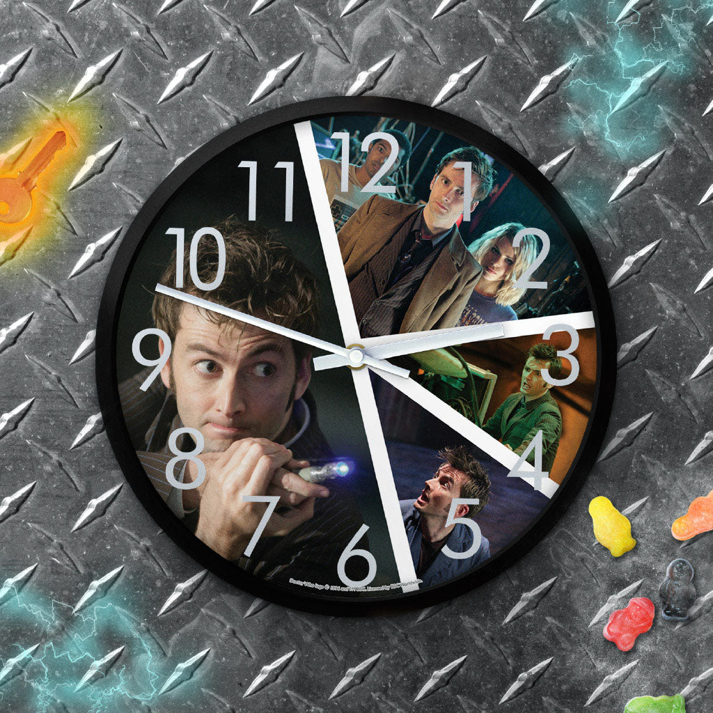 Tenth Doctor Photographic Clock (Lifestyle)