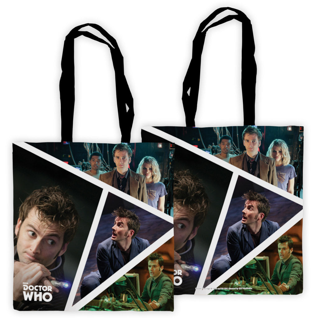 Tenth Doctor Photographic Edge to Edge Tote