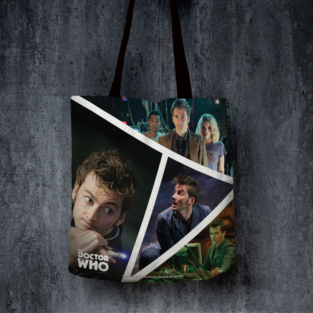 Tenth Doctor Photographic Edge to Edge Tote (Lifestyle)