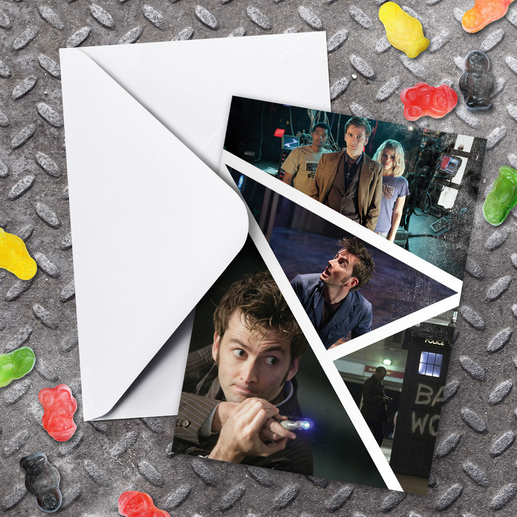 Tenth Doctor Photographic Greeting Card (Lifestyle)
