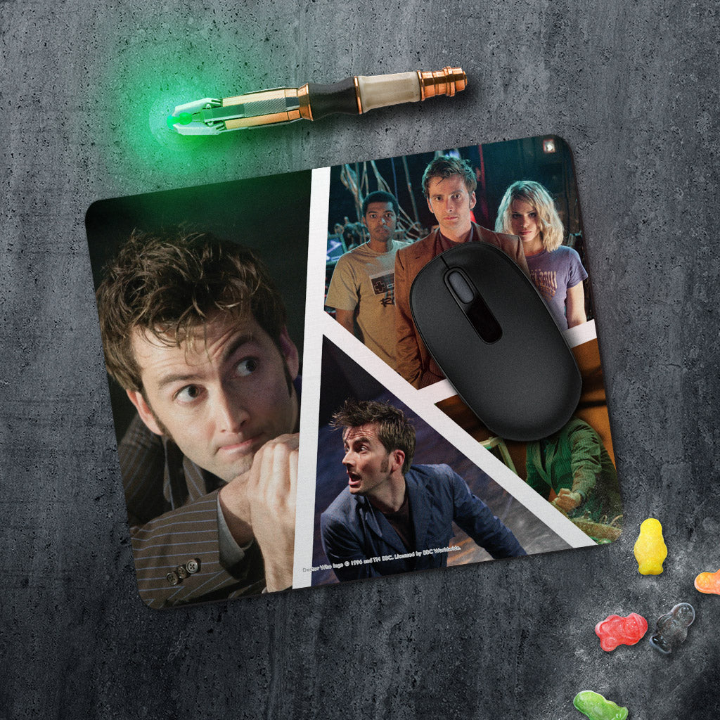 Tenth Doctor Photographic Mousemat (Lifestyle)