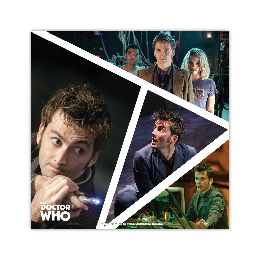 Tenth Doctor Photographic Square Art Print
