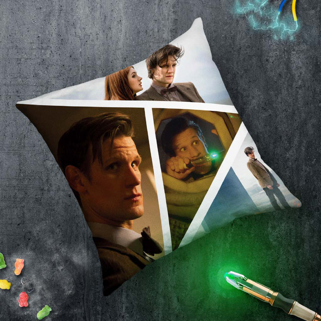 Eleventh Doctor Photographic Cushion (Lifestyle)