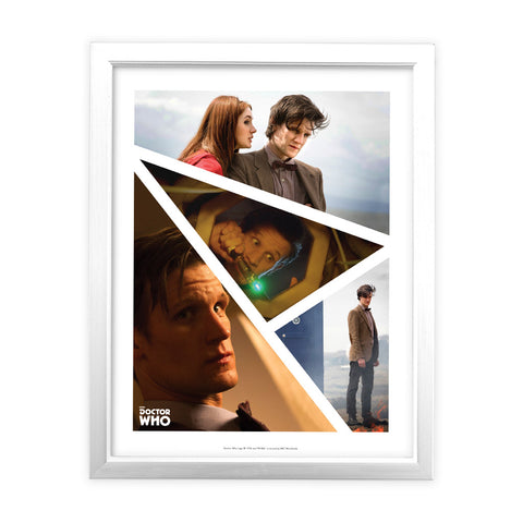 Eleventh Doctor Photographic White Framed Art Print