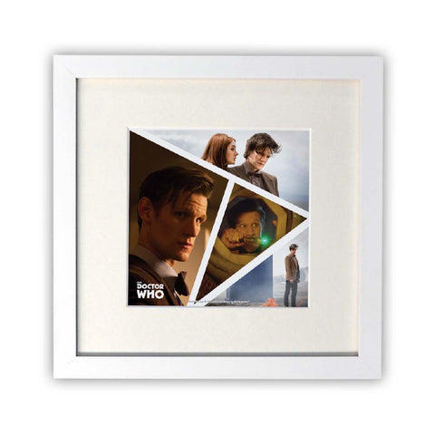Eleventh Doctor Photographic Square White Framed Print