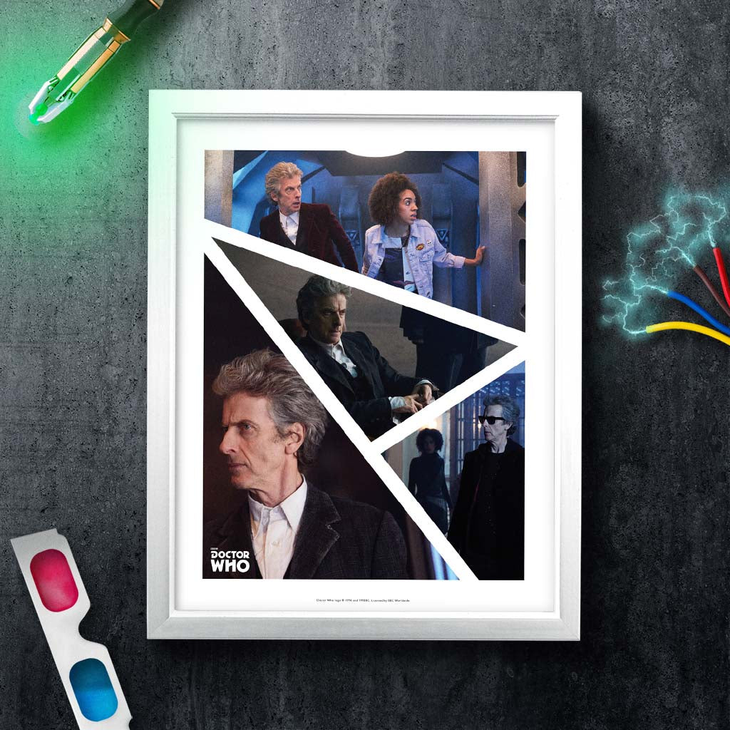 Twelfth Doctor Photographic White Framed Art Print (Lifestyle)