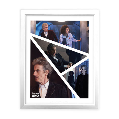 Twelfth Doctor Photographic White Framed Art Print