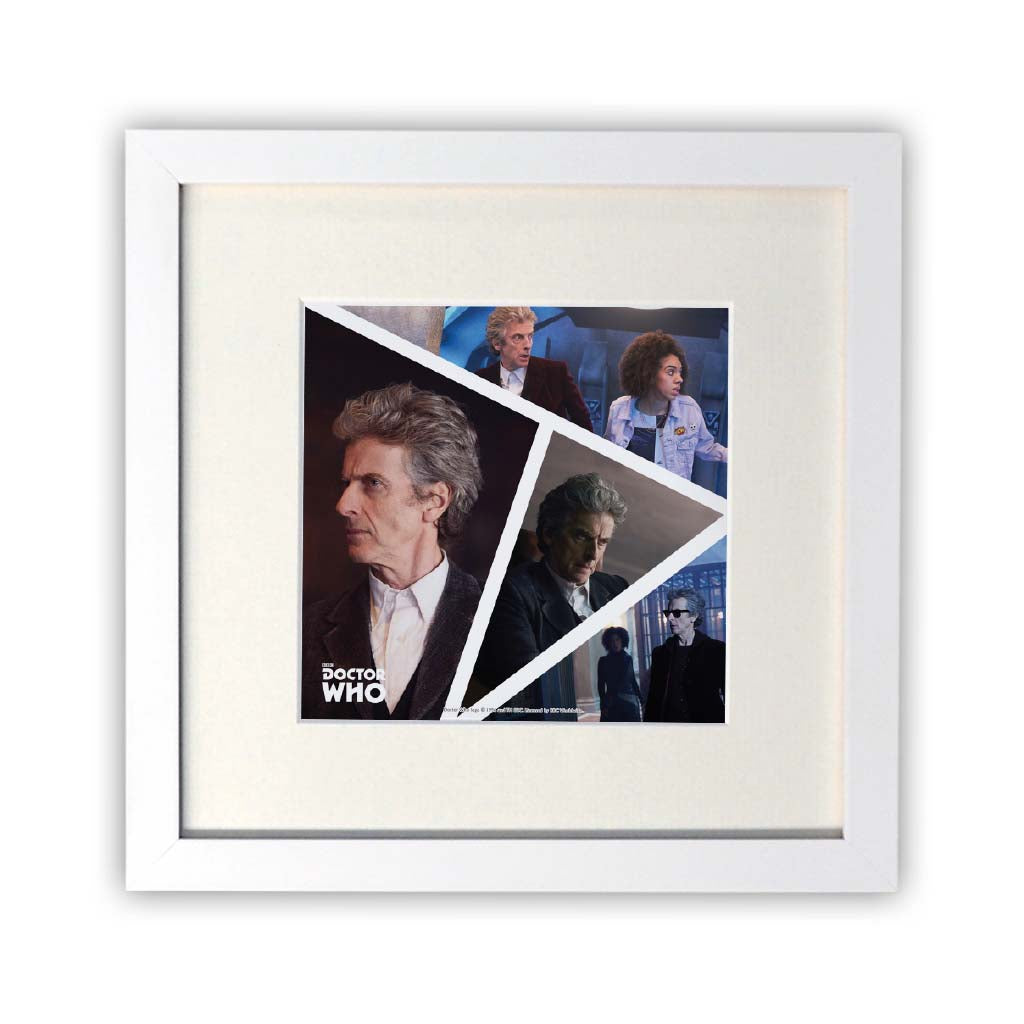 Twelfth Doctor Photographic Square White Framed Print