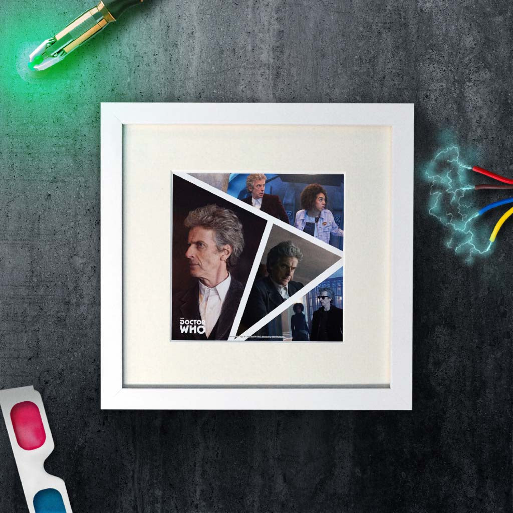 Twelfth Doctor Photographic Square White Framed Art Print (Lifestyle)