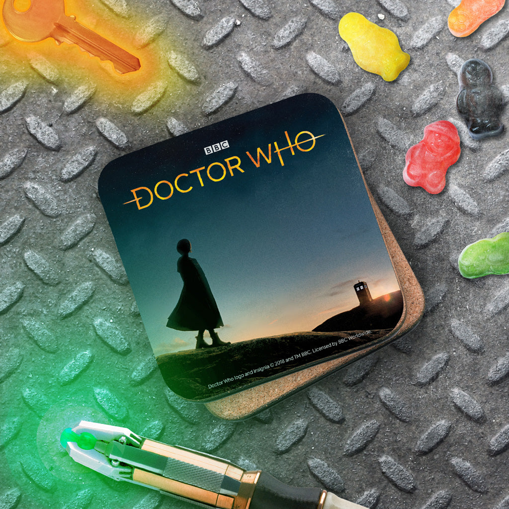 Thirteenth Doctor Photographic Coaster (Lifestyle)