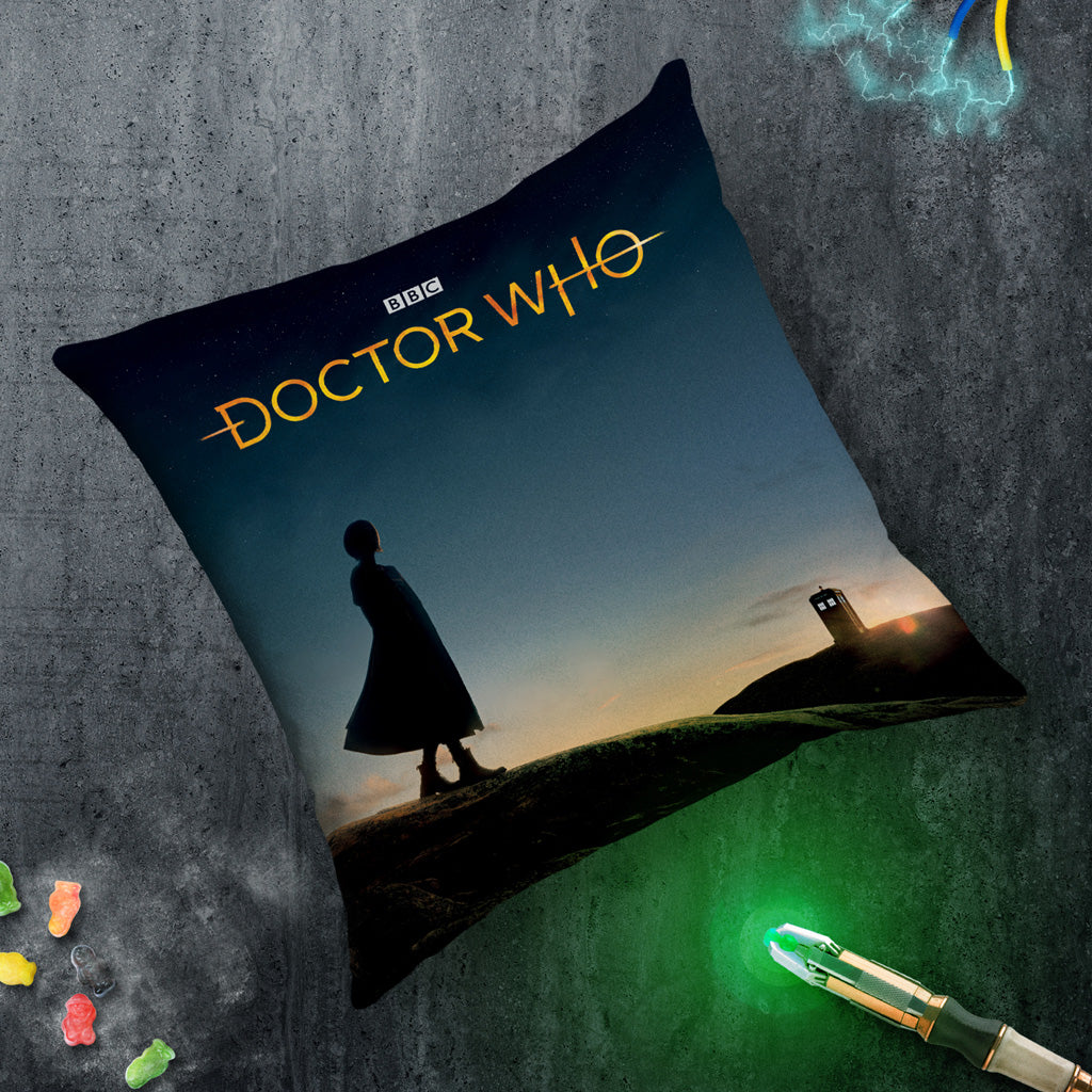 Thirteenth Doctor Photographic Cushion (Lifestyle)