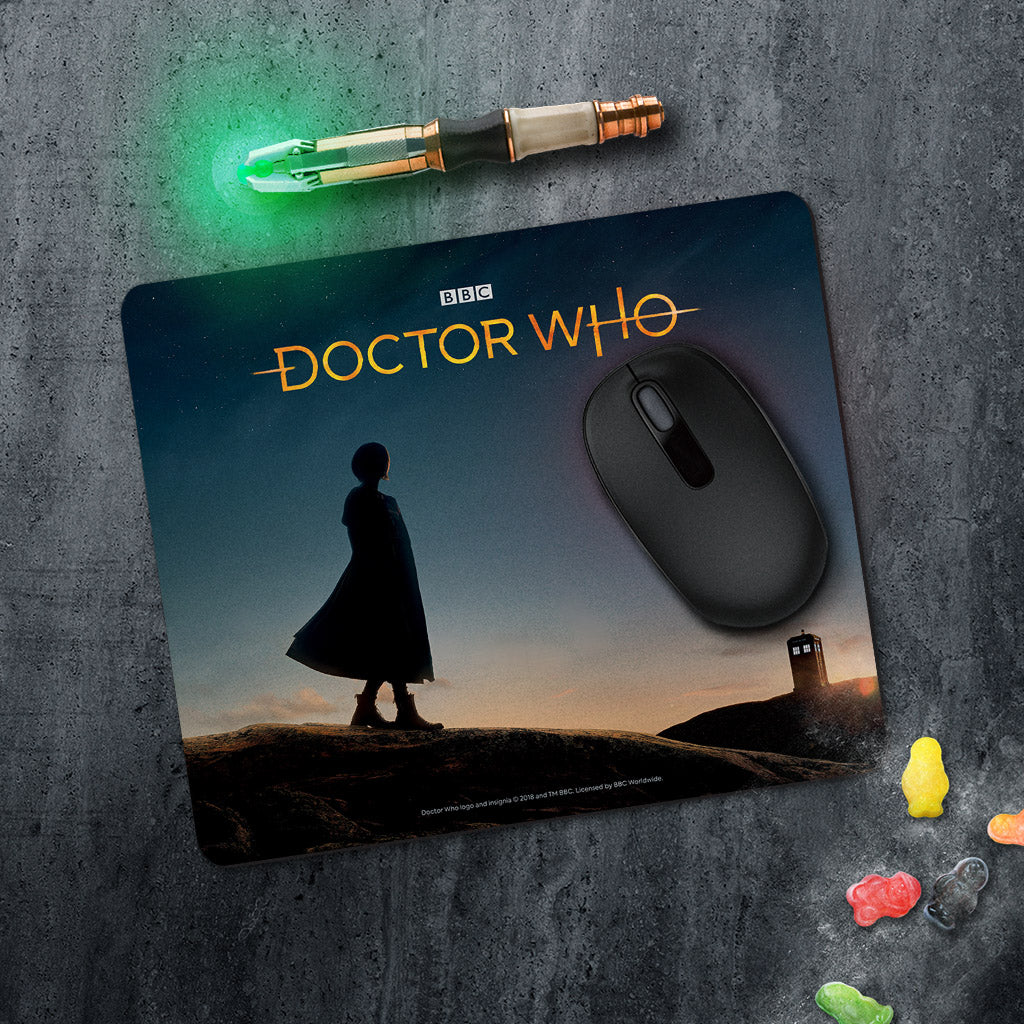 Thirteenth Doctor Photographic Mousemat (Lifestyle)
