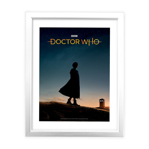 Thirteenth Doctor Photographic White Framed Art Print