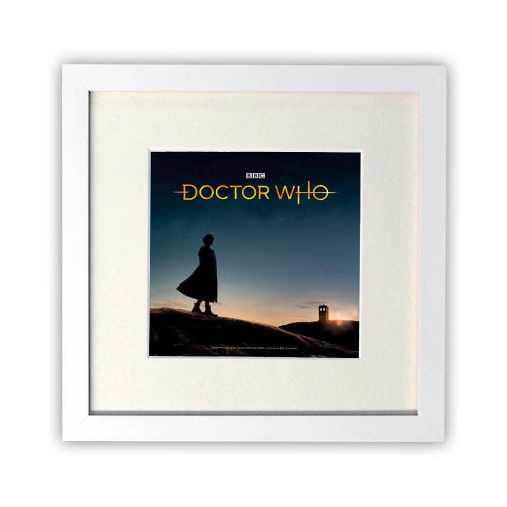 Thirteenth Doctor Photographic Square White Framed Print