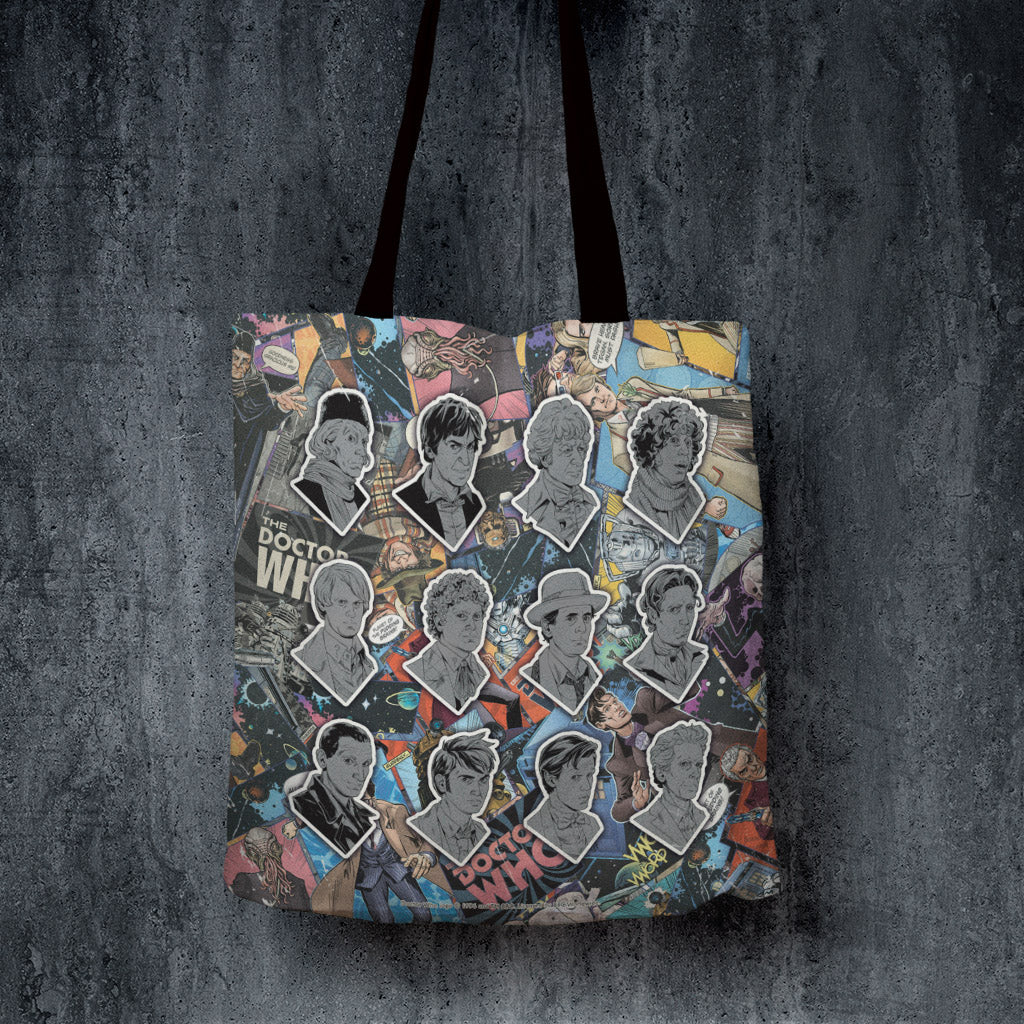 Twelve Doctors Comic Edge to Edge Tote (Lifestyle)