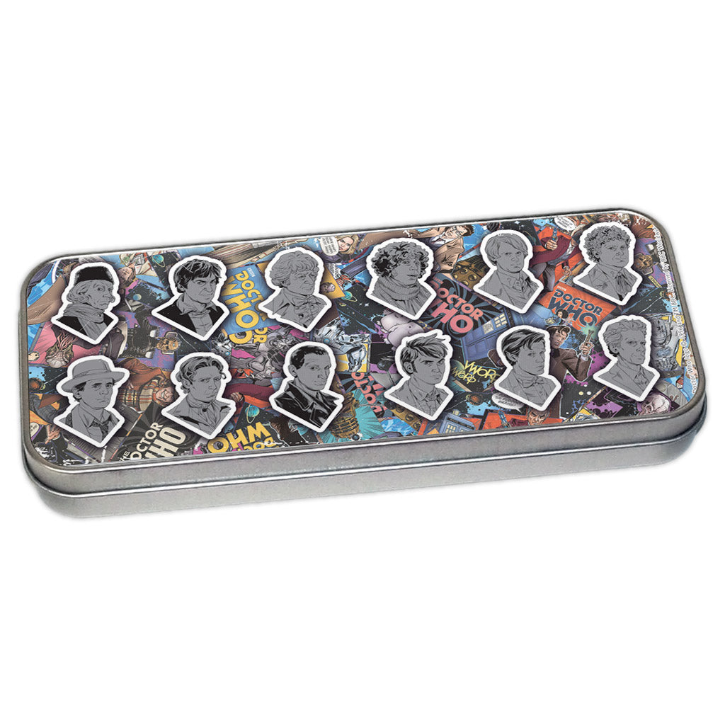 Twelve Doctors Comic Pencil Tin