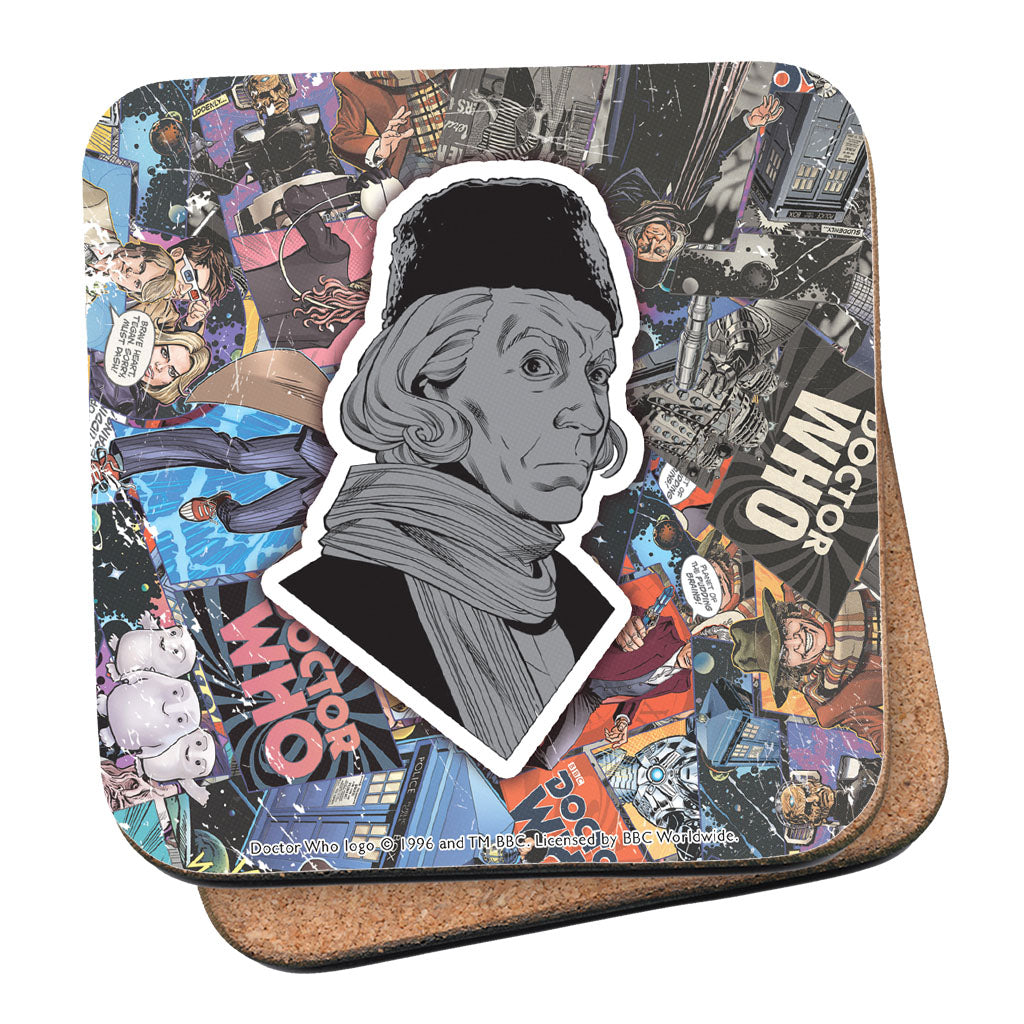 First Doctor Comic Coaster