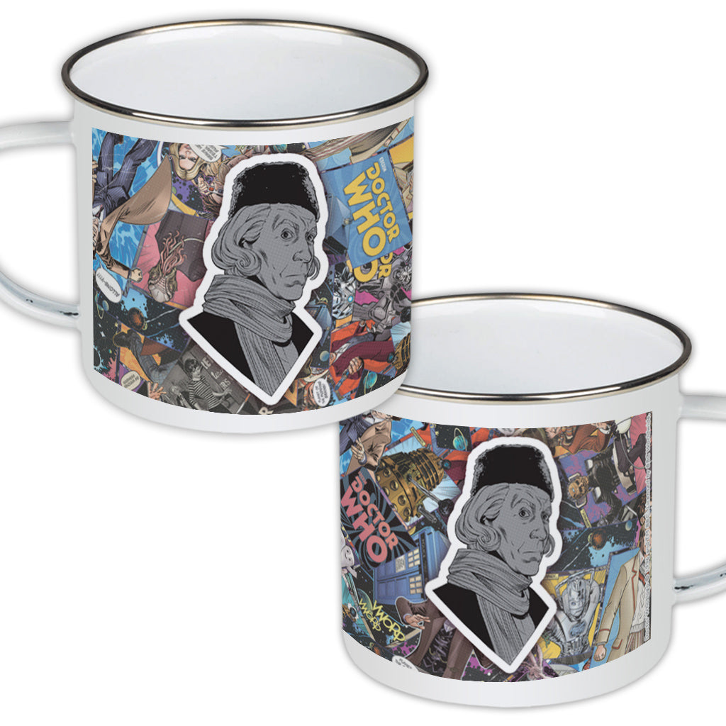 First Doctor Comic Enamel Mug