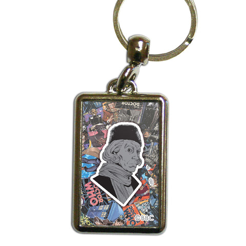 First Doctor Comic Metal Keyring