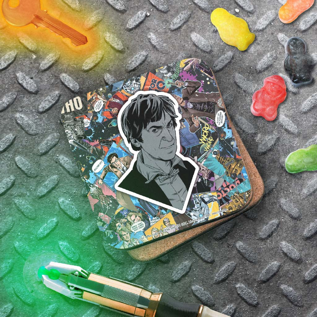Second Doctor Comic Coaster (Lifestyle)