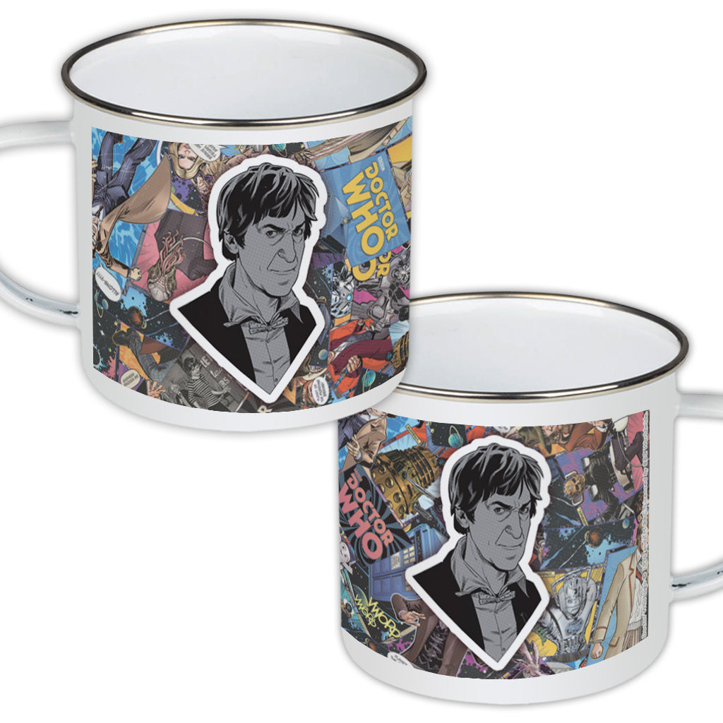 Second Doctor Comic Enamel Mug
