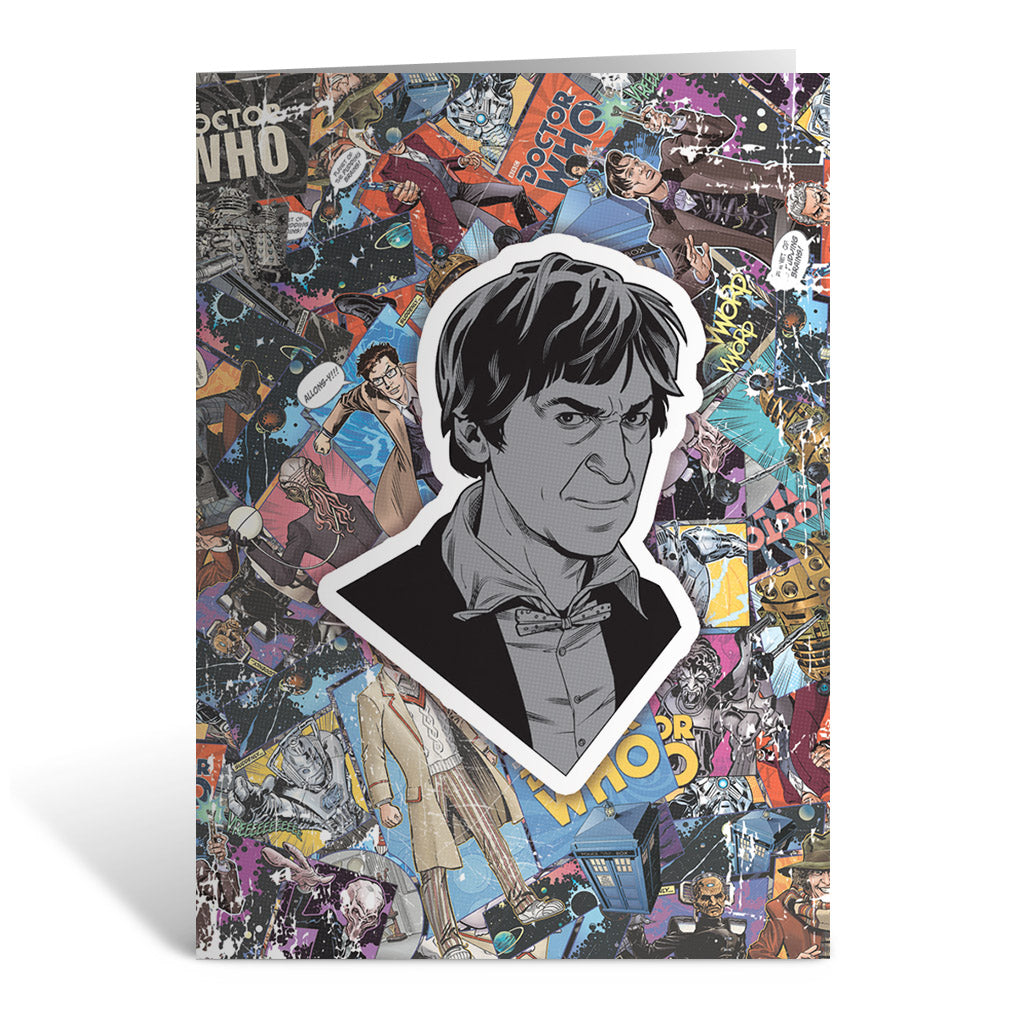 Second Doctor Comic Greeting Card