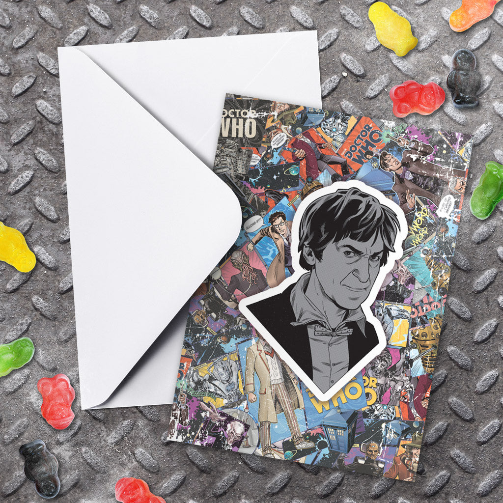 Second Doctor Comic Greeting Card (Lifestyle)