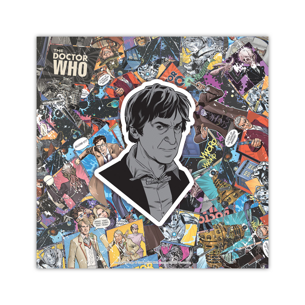 Second Doctor Comic Square Art Print