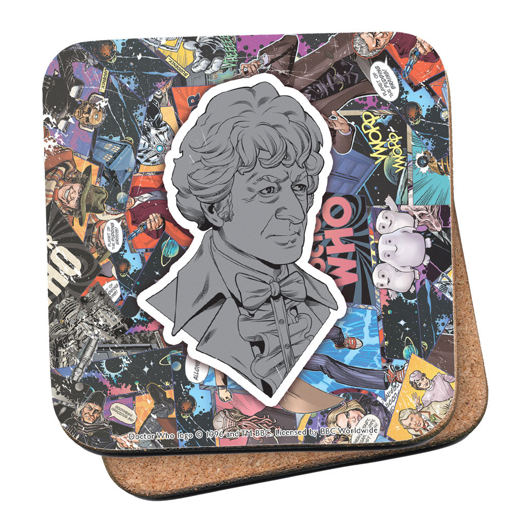 Third Doctor Comic Coaster