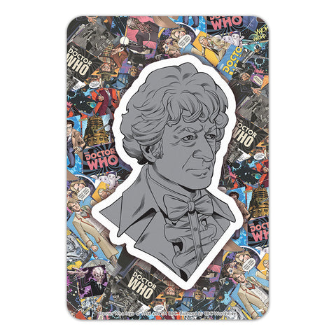 Third Doctor Comic Door Plaque