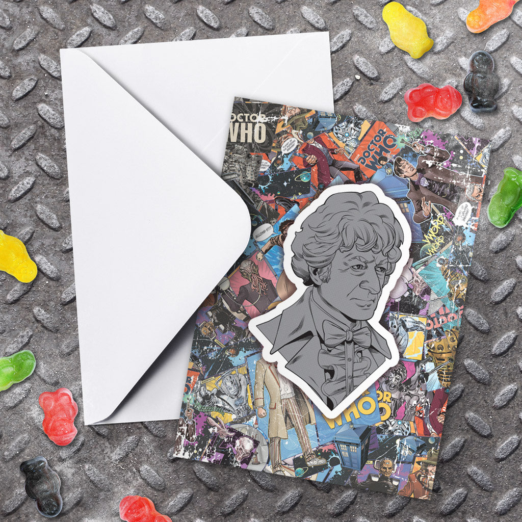Third Doctor Comic Greeting Card (Lifestyle)