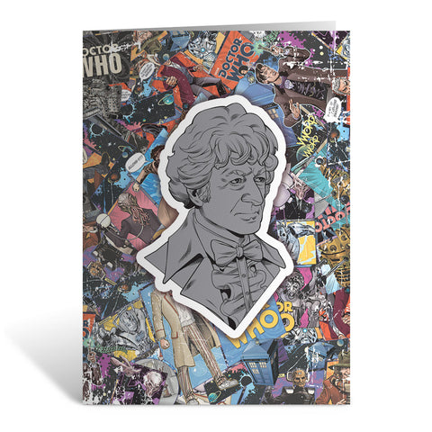 Third Doctor Comic Greeting Card