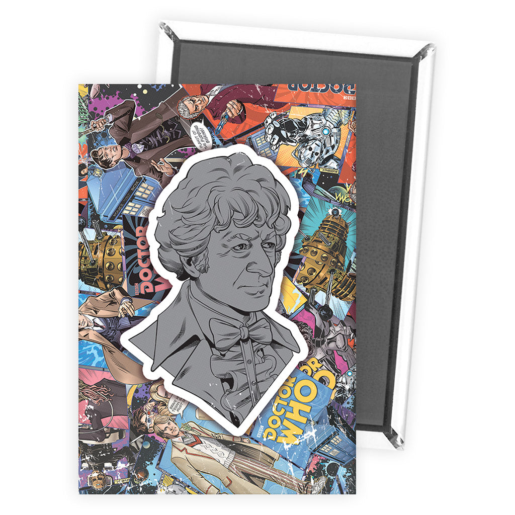 Third Doctor Comic Magnet