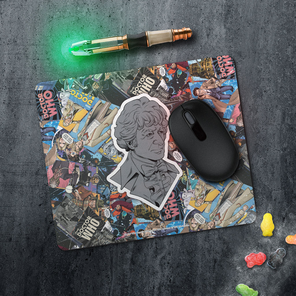 Third Doctor Comic Mousemat (Lifestyle)