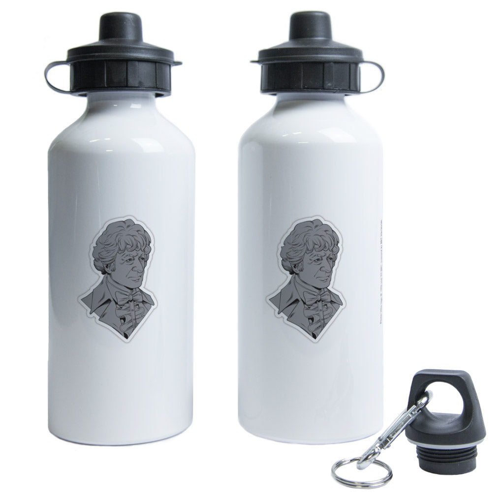 Third Doctor Comic Water Bottle