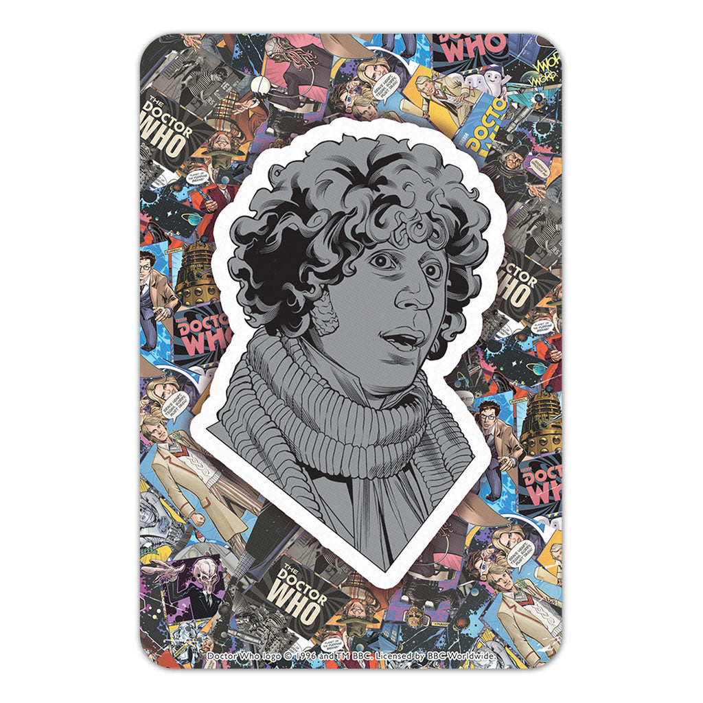 Fourth Doctor Comic Door Plaque