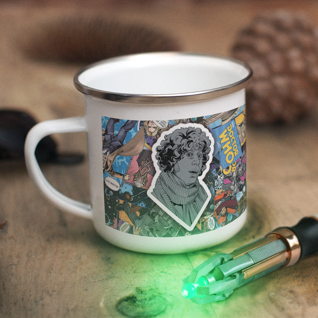 Fourth Doctor Comic Enamel Mug (Lifestyle)